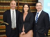 Movsesian and DeGirolami with Global Law Fellow Fabiana Dal Cin